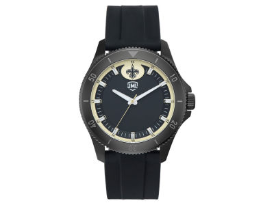 New Orleans Saints Jack Mason Men's Blackout Silicone Watch