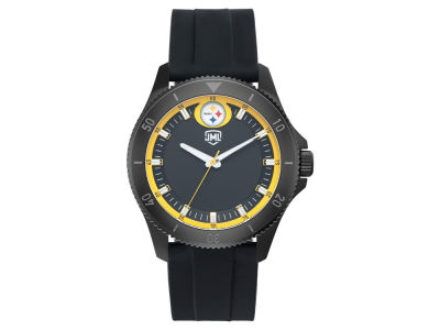 Pittsburgh Steelers Jack Mason Men's Blackout Silicone Watch