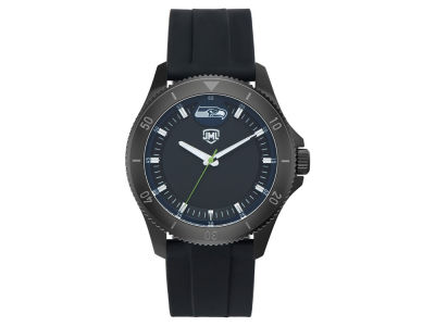Seattle Seahawks Jack Mason Men's Blackout Silicone Watch