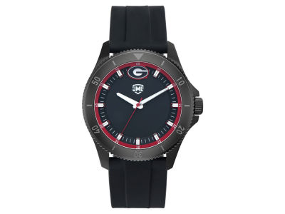 Georgia Bulldogs Jack Mason Men's Blackout Silicone Watch