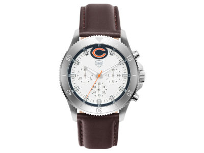 Chicago Bears Jack Mason Men's Chronograph Leather Strap Watch