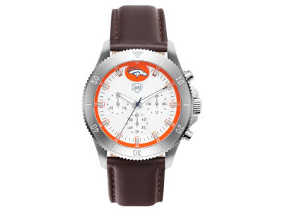 Denver Broncos Jack Mason Men's Chronograph Leather Strap Watch