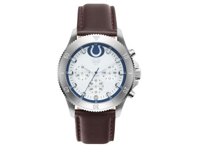 Indianapolis Colts Jack Mason Men's Chronograph Leather Strap Watch