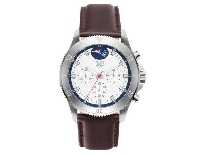 New England Patriots Jack Mason Men's Chronograph Leather Strap Watch