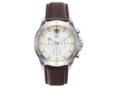 New Orleans Saints Jack Mason Men's Chronograph Leather Strap Watch