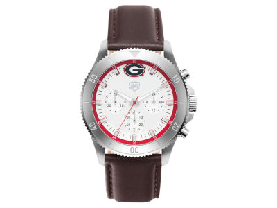 Georgia Bulldogs Jack Mason Men's Chronograph Leather Strap Watch