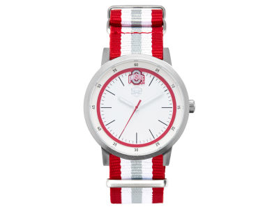 Ohio State Buckeyes Jack Mason Striped Nato Strap Watch