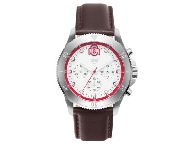 Men's Chronograph Leather Strap Watch