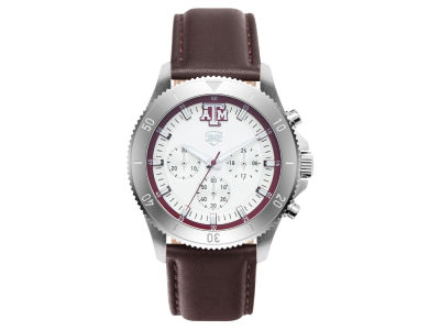 Texas A&M Aggies Jack Mason Men's Chronograph Leather Strap Watch