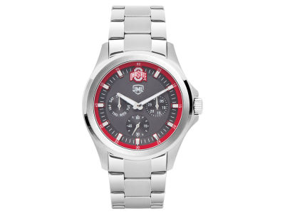 Ohio State Buckeyes Jack Mason Men's Silver Multi-Function Watch