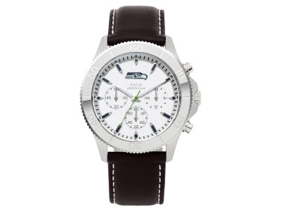 Seattle Seahawks Jack Mason Men's Chrono Leather Watch