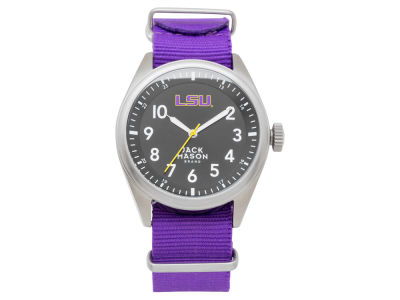LSU Tigers Jack Mason Men's Solid Nato Strap Watch
