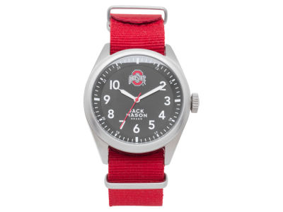 Ohio State Buckeyes Jack Mason Men's Solid Nato Strap Watch