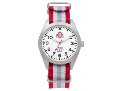 Ohio State Buckeyes Jack Mason Men's Striped NATO Strap Watch