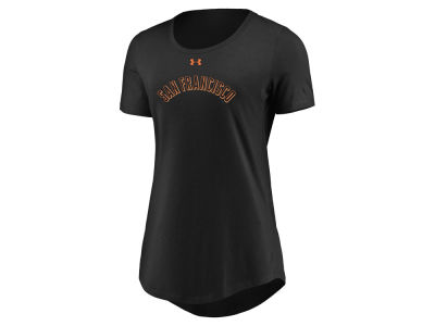 San Francisco Giants Under Armour MLB Women's Team Font Scoop T-Shirt