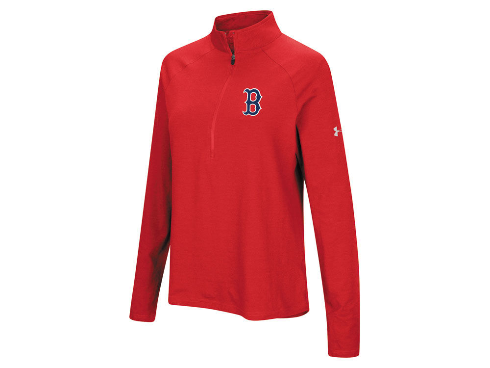 Boston Red Sox Under Armour MLB Women s Passion Half Zip Pullover ... 71ba59c522