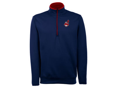 Cleveland Indians Antigua MLB Men's Leader Quarter Zip Pullover
