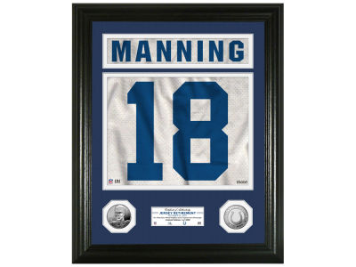 Indianapolis Colts Peyton Manning Jersey Retirement Photo mint