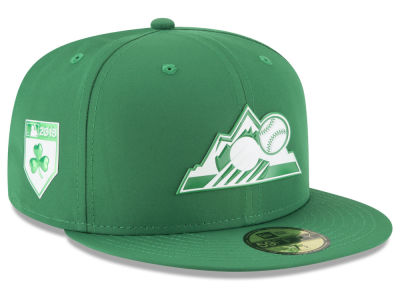 Colorado Rockies New Era 2018 MLB St. Patty's Day Pro Light 59FIFTY Cap