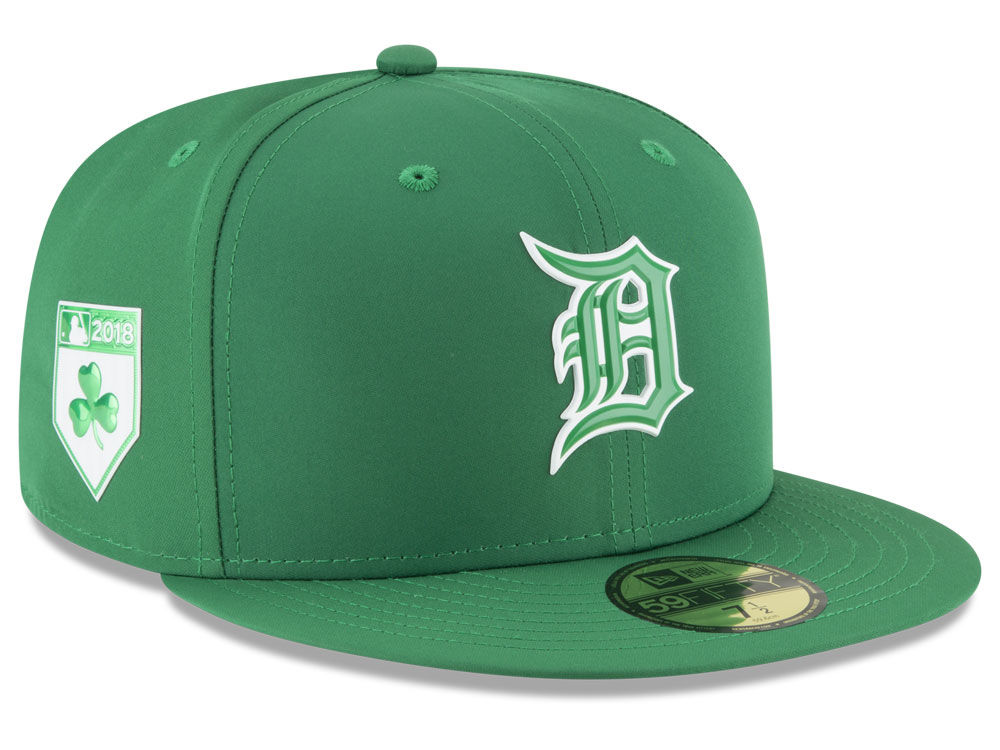d5bae5587e6 Detroit Tigers New Era 2018 MLB St. Patrick s Day Prolight 59FIFTY Cap