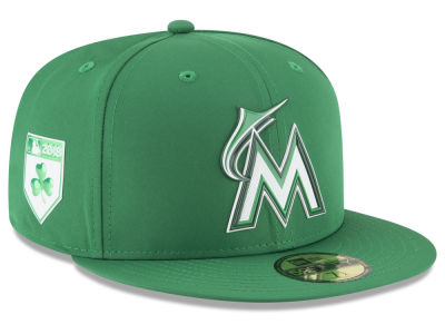 Miami Marlins New Era 2018 MLB St. Patrick's Day Prolight 59FIFTY Cap