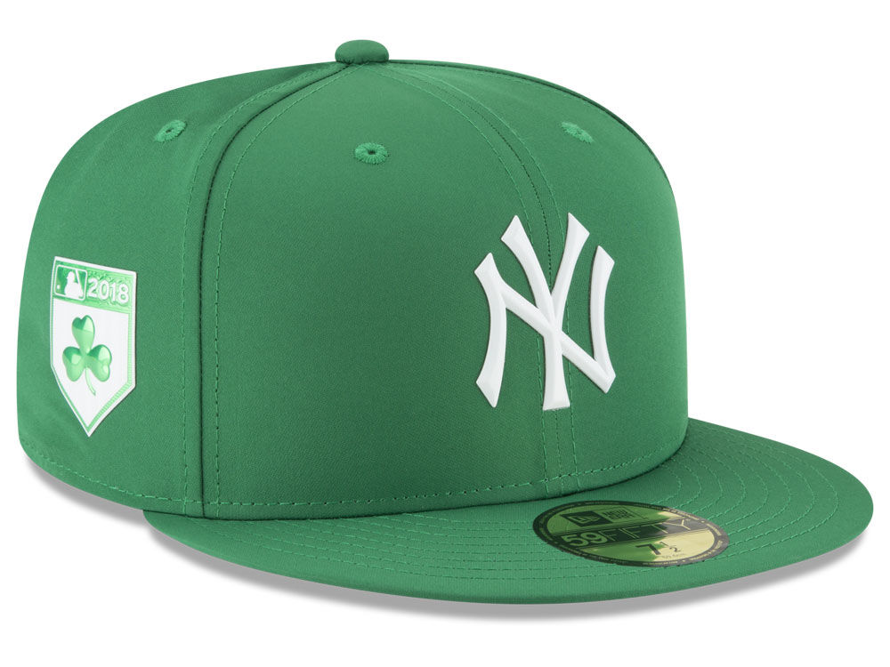 New York Yankees New Era 2018 MLB St. Patrick s Day Prolight 59FIFTY Cap  92683219a