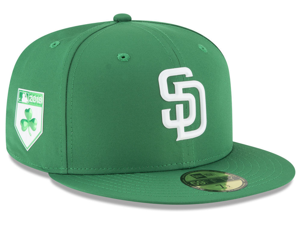 15cedd1b800c6 San Diego Padres New Era 2018 MLB St. Patrick s Day Prolight 59FIFTY Cap