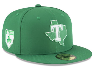 Texas Rangers New Era 2018 MLB St. Patrick's Day Prolight 59FIFTY Cap