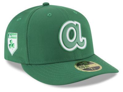 Atlanta Braves New Era 2018 MLB St. Patty's Day Pro Light Low Crown 59FIFTY Cap