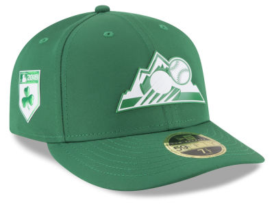 Colorado Rockies New Era 2018 MLB St. Patty's Day Pro Light Low Crown 59FIFTY Cap