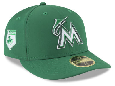 Miami Marlins New Era 2018 MLB St. Patrick's Day Prolight Low Crown 59FIFTY Cap