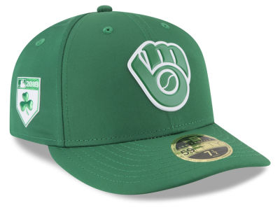 Milwaukee Brewers New Era 2018 MLB St. Patrick's Day Prolight Low Crown 59FIFTY Cap