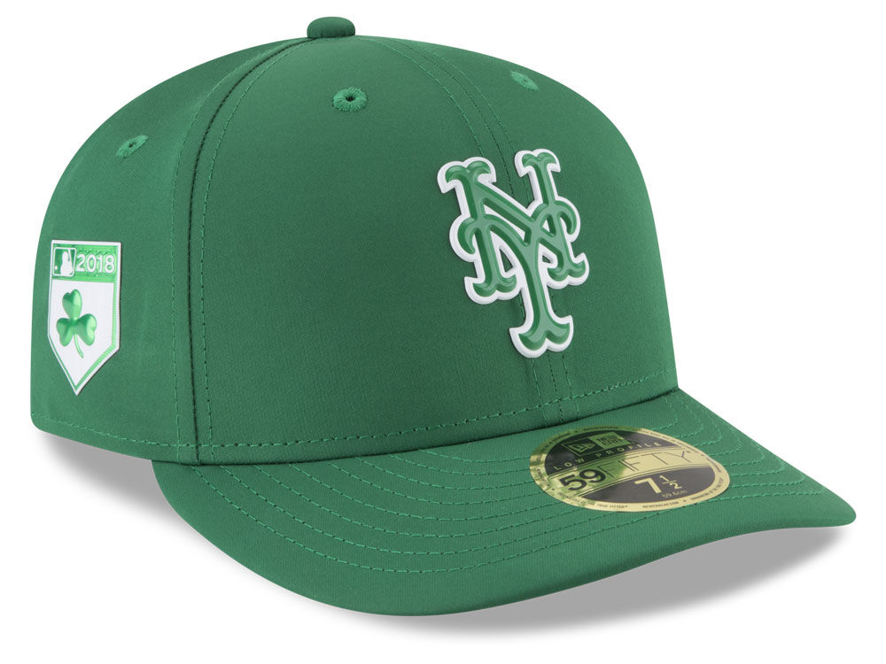New York Mets New Era 2018 MLB St. Patrick s Day Prolight Low Crown 59FIFTY  Cap  471ce7d7c94a