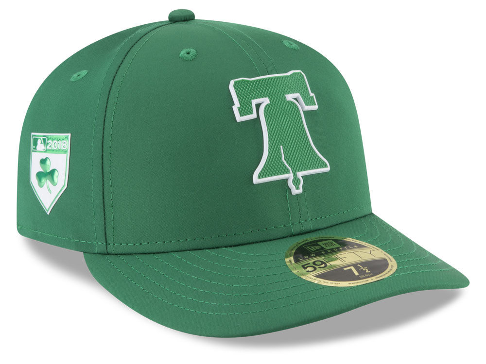 4285a950459 Philadelphia Phillies New Era 2018 MLB St. Patrick s Day Prolight Low Crown  59FIFTY Cap