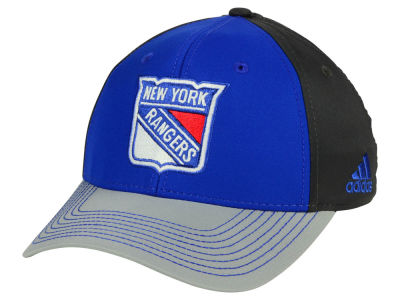New York Rangers adidas NHL 2Tone Stitch Flex Cap
