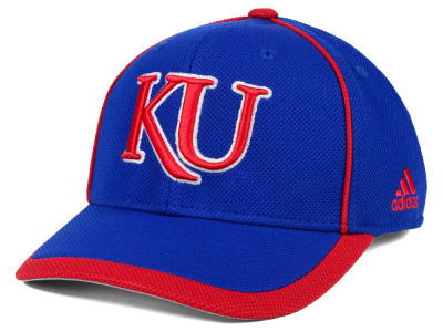 Kansas Jayhawks adidas NCAA Piping Hot Adjustable Cap