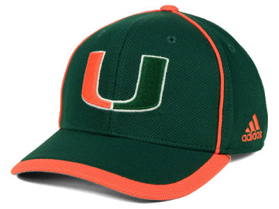 Miami Hurricanes adidas NCAA Piping Hot Adjustable Cap