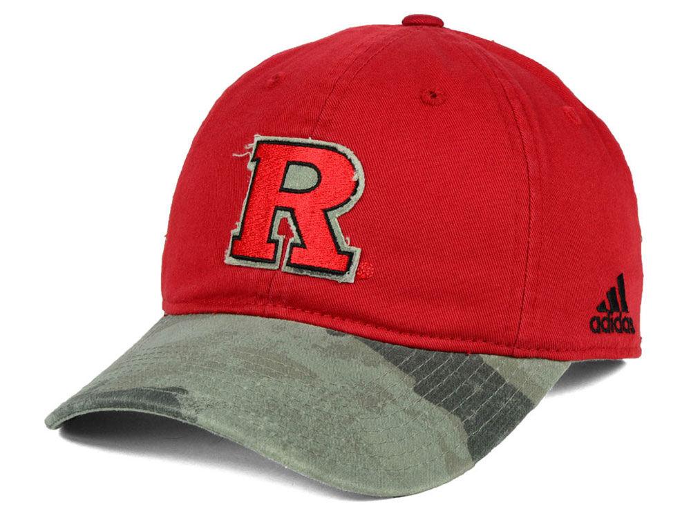 Rutgers Scarlet Knights adidas NCAA Camo Code Slouch Cap  dd26e0d431c
