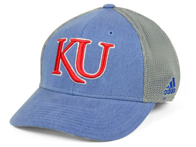 Kansas Jayhawks adidas NCAA Faded Flex Cap
