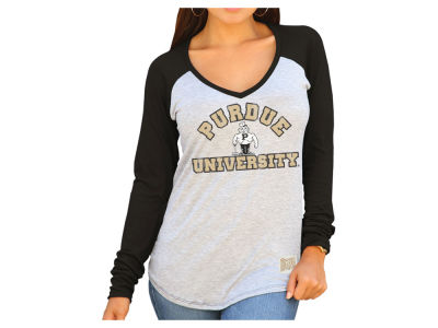 Purdue Boilermakers Retro Brand NCAA Women's Raglan Long Sleeve T-Shirt
