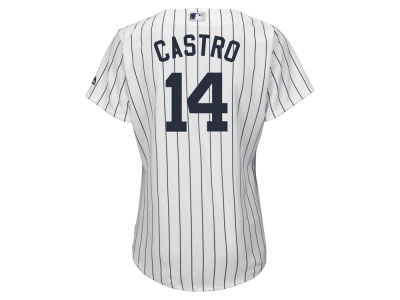 New York Yankees Starlin Castro MLB Women's Cool Base Player Replica Jersey