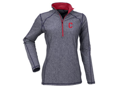 Cleveland Indians Antigua MLB Women's Tempo Contrast Pullover