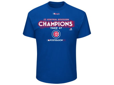 Chicago Cubs Majestic 2017 MLB Men's Division Champ T-Shirt