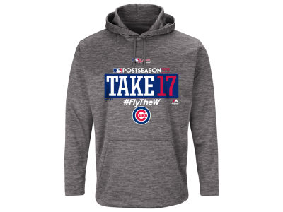Chicago Cubs Majestic 2017 MLB Men's Postseason Ultra Fleece Hoodie