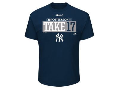 New York Yankees Majestic 2017 MLB Men's Postseason Participant T-Shirt