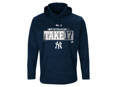 New York Yankees Majestic 2017 MLB Men's Postseason Ultra Fleece Hoodie