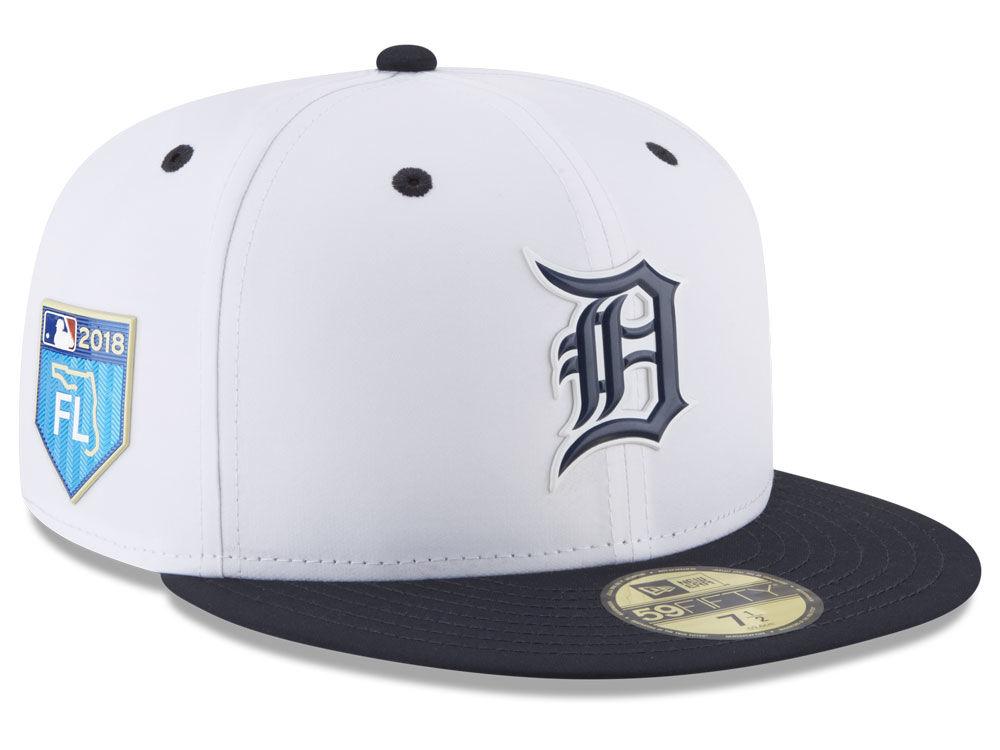 Detroit Tigers New Era 2018 MLB Spring Training Prolight 59FIFTY Cap ... a066775ba466