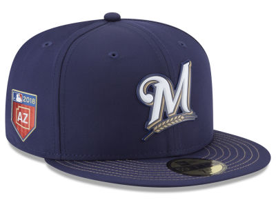 Milwaukee Brewers New Era 2018 MLB Spring Training Pro Light 59FIFTY Cap