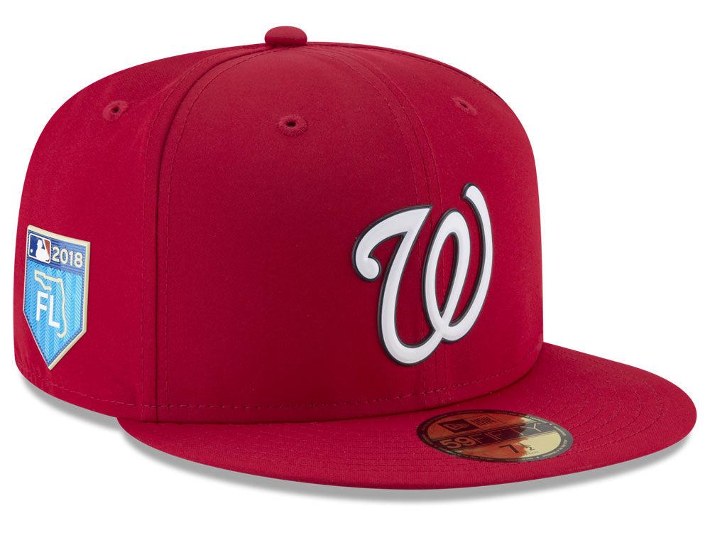 82975040a22 Washington Nationals New Era 2018 MLB Spring Training Prolight 59FIFTY Cap