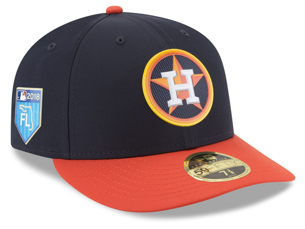 18397566090 Houston Astros New Era 2018 MLB Spring Training Prolight Low Profile  59FIFTY Cap